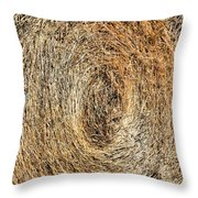 Hay Bay Rolls 5 Throw Pillow