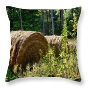 Hay Bay Rolls Throw Pillow