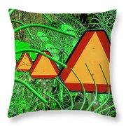 Hay Equipment Throw Pillow