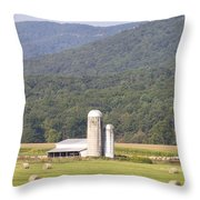 Hay Farm In The Country Throw Pillow by Danielle Allard