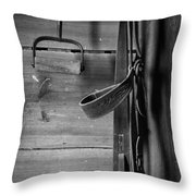 Hay Hook And Harness Throw Pillow