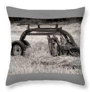 Hay Rake Throw Pillow