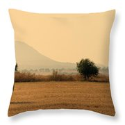 hay rolls  Throw Pillow by Stylianos Kleanthous