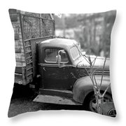 Hay Truck Throw Pillow