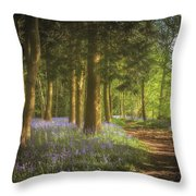 Hay Wood Bluebells 3 Throw Pillow