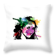 Hayden Panettiere Pop Art Throw Pillow