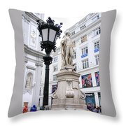 Haydn On Vienna Street Corner Throw Pillow