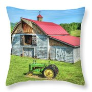 Hayesville Barn And Tractor Throw Pillow