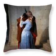 Hayez, The Kiss Throw Pillow