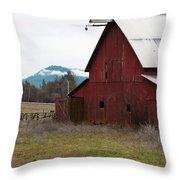 Hayfork Red Barn Throw Pillow