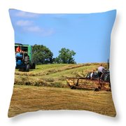 Haying The Field 1 Throw Pillow