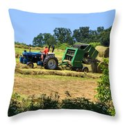 Haying The Field 3 Throw Pillow