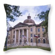 Hays County Courthouse Throw Pillow