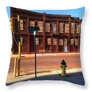 Hays, Kansas - 12th Street Throw Pillow