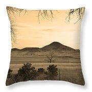 Haystack Mountain - Boulder County Colorado - Sepia Evening Throw Pillow