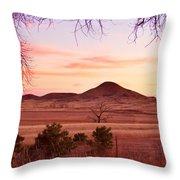 Haystack Mountain - Boulder County Colorado -  Sunset Evening Throw Pillow