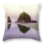 Haystack Rock 1 Throw Pillow