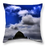 Haystack Rock Monolith Throw Pillow