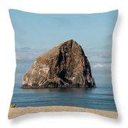 Haystack Rock - Pacific City Oregon Coast Throw Pillow