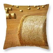 Haystacks Throw Pillow