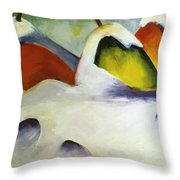 Haystacks In The Snow 1911 Throw Pillow
