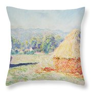 Haystacks In The Sun Throw Pillow