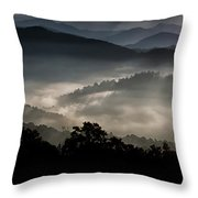 Hazed In Mystery Throw Pillow