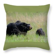 Hazel And The Wild Bunch Throw Pillow
