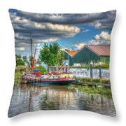 Hazel May Throw Pillow