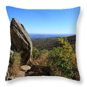 Hazel Mountain Overlook On Skyline Drive In Shenandoah National Park Throw Pillow