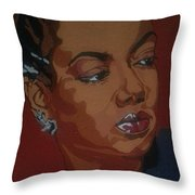 Hazel Scott Throw Pillow