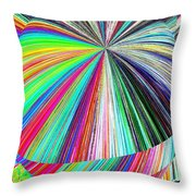 Hazelnut Abstract Throw Pillow