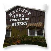 Hazlitt Winery 1852 Throw Pillow