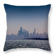 Hazy Chicago Throw Pillow