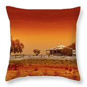 Hazy Days Throw Pillow by Holly Kempe