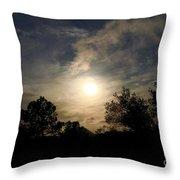 Hazy Evening Sun Throw Pillow