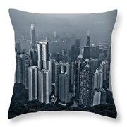 Hazy Hong Kong Throw Pillow