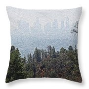 Hazy L.a. Throw Pillow