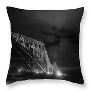 Hazy Lights In The Night Throw Pillow