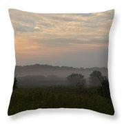 Hazy Morning Throw Pillow