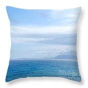 Hazy Ocean View Throw Pillow