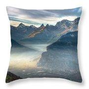 Hazy Veysonnaz Throw Pillow