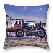 Hd Fence Line Throw Pillow