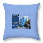 Hdfc Bank Recruitment Throw Pillow