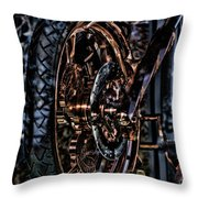 Hdr Liberty Bike Copper Ny Throw Pillow