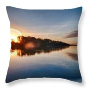 Hdr River Fun Throw Pillow