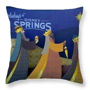 Three Wise Men Disney Springs Throw Pillow
