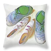 He And She Throw Pillow