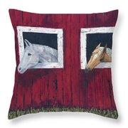 He And She Throw Pillow by Kathryn Riley Parker