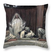 He Appeared To The Eleven Throw Pillow by Tissot